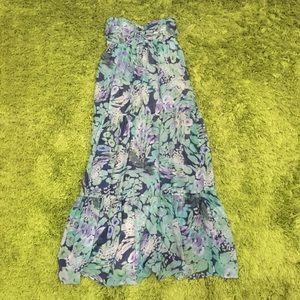 Portmans Strapless Maxi Dress Size 10
